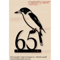 Customised House number with Butcherbird