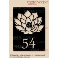 Customised House Number Lotus Flower