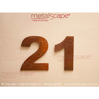 Solid Corten Numbers - 250mm high