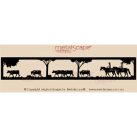 Panoramic Cattle Drive Scene