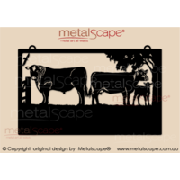Large Property Sign - Angus Bull  and Calf