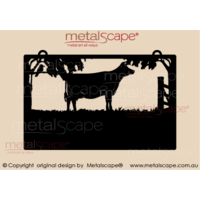 Medium Property Sign -  Jersey  Cow and Collie Dog
