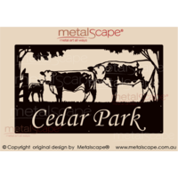 Large Property Sign - Speckle Park breed, Bull, Cow & Calf