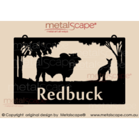 Large Property Sign - Brahman Bull and kangaroo