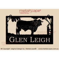 Large Property Sign - Santa Gertrudis Bull