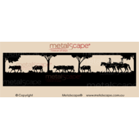 Panoramic Property Sign - Cattle Drive Scene
