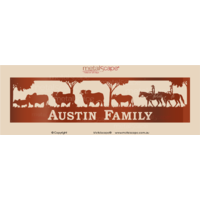 Property Sign - Riders & Brahman Cattle Muster