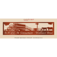Panoramic Sign - Angus Cattle, Windmill & Cattle Truck