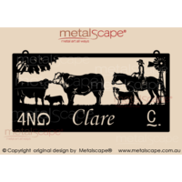 XL Property Sign - Charolais Cattle and rider