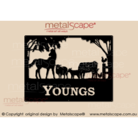 Medium Property Sign - Horse & farm animals