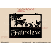 Small Property Sign - Mixed Farm Animals