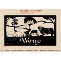XL Property Sign -  Black Faced Dorper & Angus Cattle