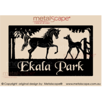 Large Property Sign - Arabian Mare & Foal