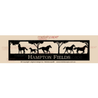 Panoramic Property Sign - 5 Horses