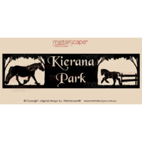 Panoramic Property Sign -  Cob Mare & Foal